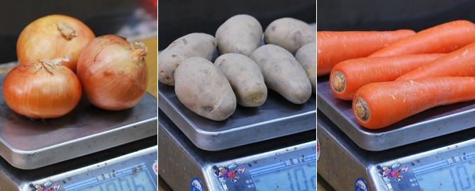 根野菜セット(ニンジン、メークイン、玉ねぎ)