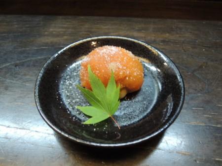 栗を丸ごとひとつ包んだあんぽ柿 絶品でした