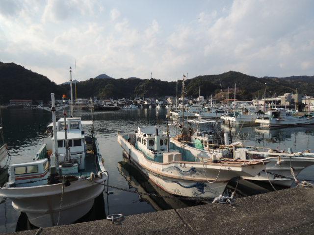 四国の右下には、20ヶ所以上の小さな魚港が点在してます。