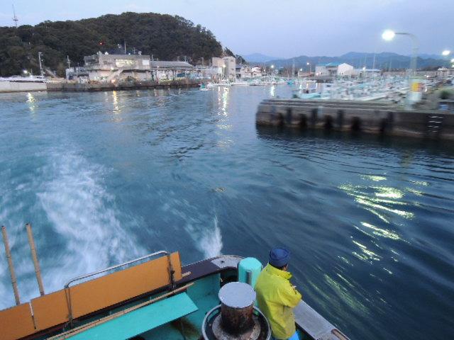 出航は2月○○日早暁。温暖な四国とはいえ、さすがに寒い。