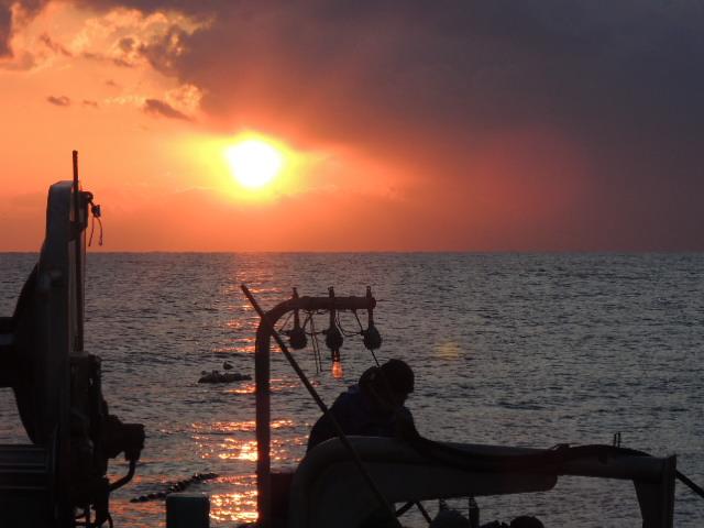 漁師さんたちは、大自然のふところで生きてるんですね。
