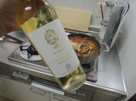 BBQ用に買った白ワイン